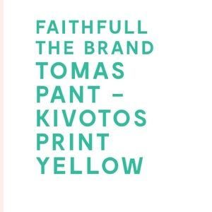 Faithfull the Brand Pants - Faithfull the Brand Yellow Tomas Pants